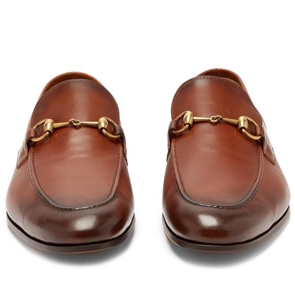 6b035e57862 Gucci Shoes | Nib Mens Jordaan Leather Brown 95uk105 | Poshmark